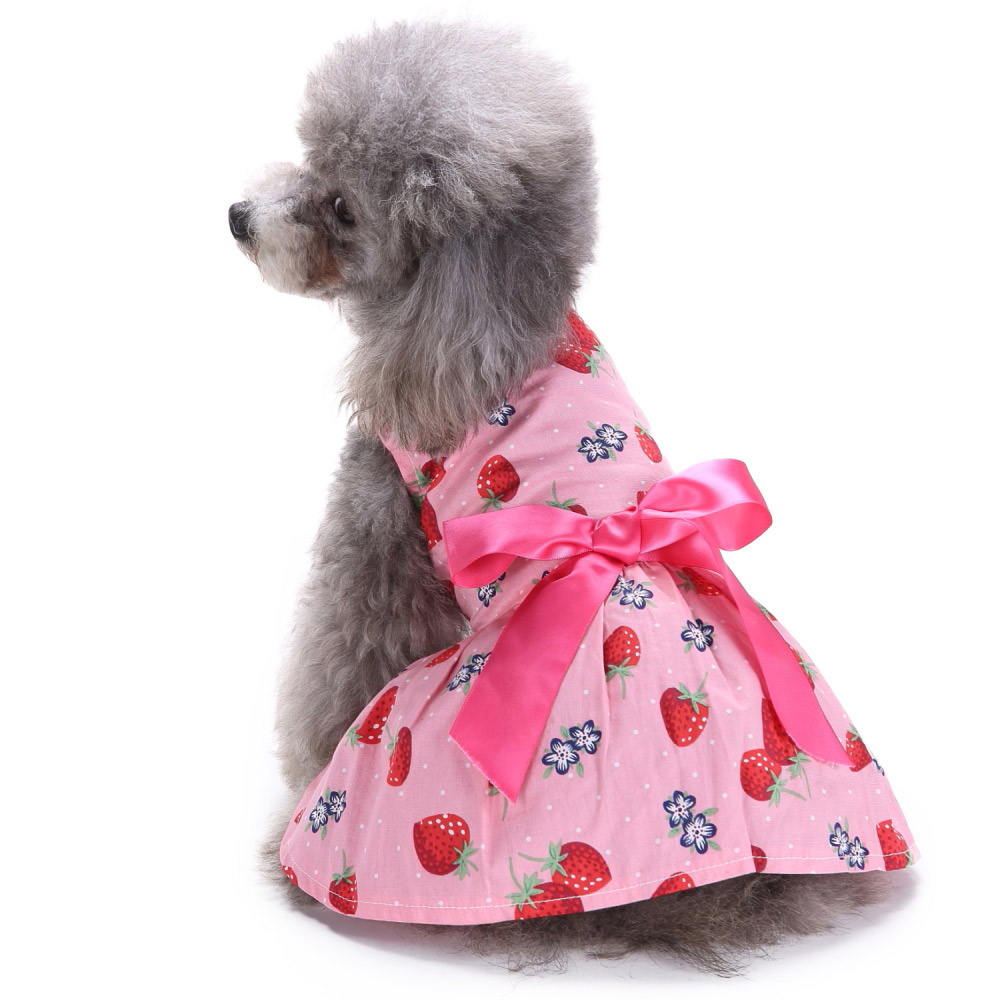 Pet Clothes Puppy Tshirt Adorable Dog Dresses Small Dogs Shirt Printed Costume 8