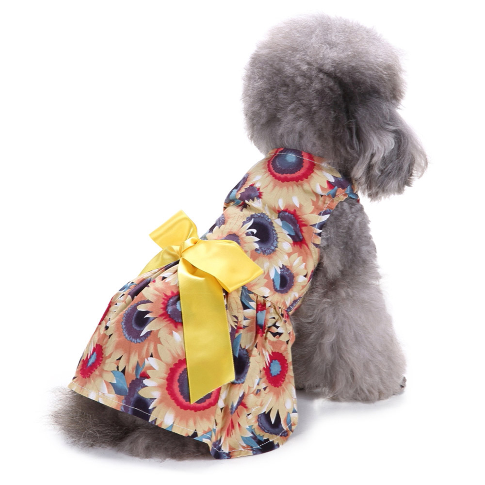 Pet Clothes Puppy Tshirt Adorable Dog Dresses Small Dogs Shirt Printed Costume 12