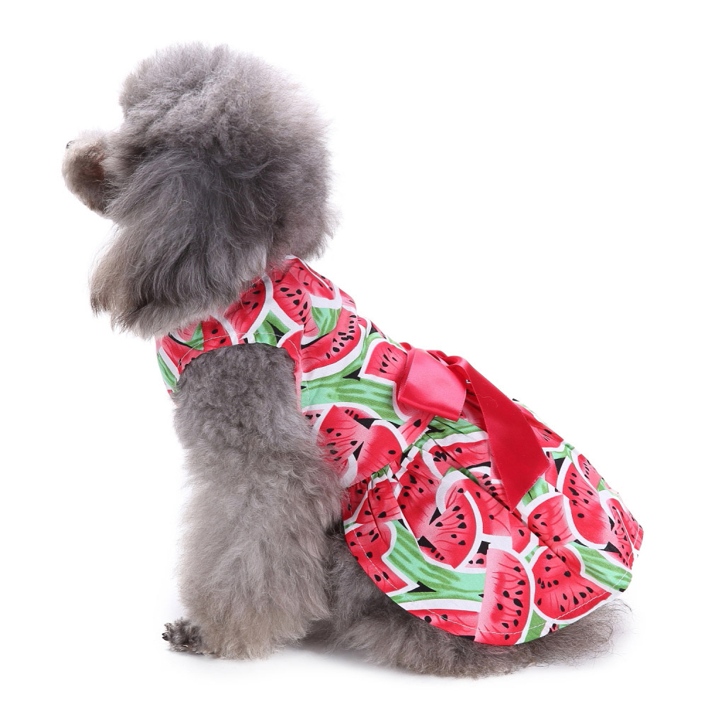 Dog Clothes Party Style Pet Cute Shirt Dress Coat Costume Outfit For Small Puppy 7