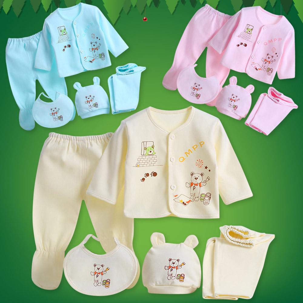 902a7ca89d4b Cute Baby Boys Girls Infant Cotton Outfit Clothing 5pcs Set Newborn ...