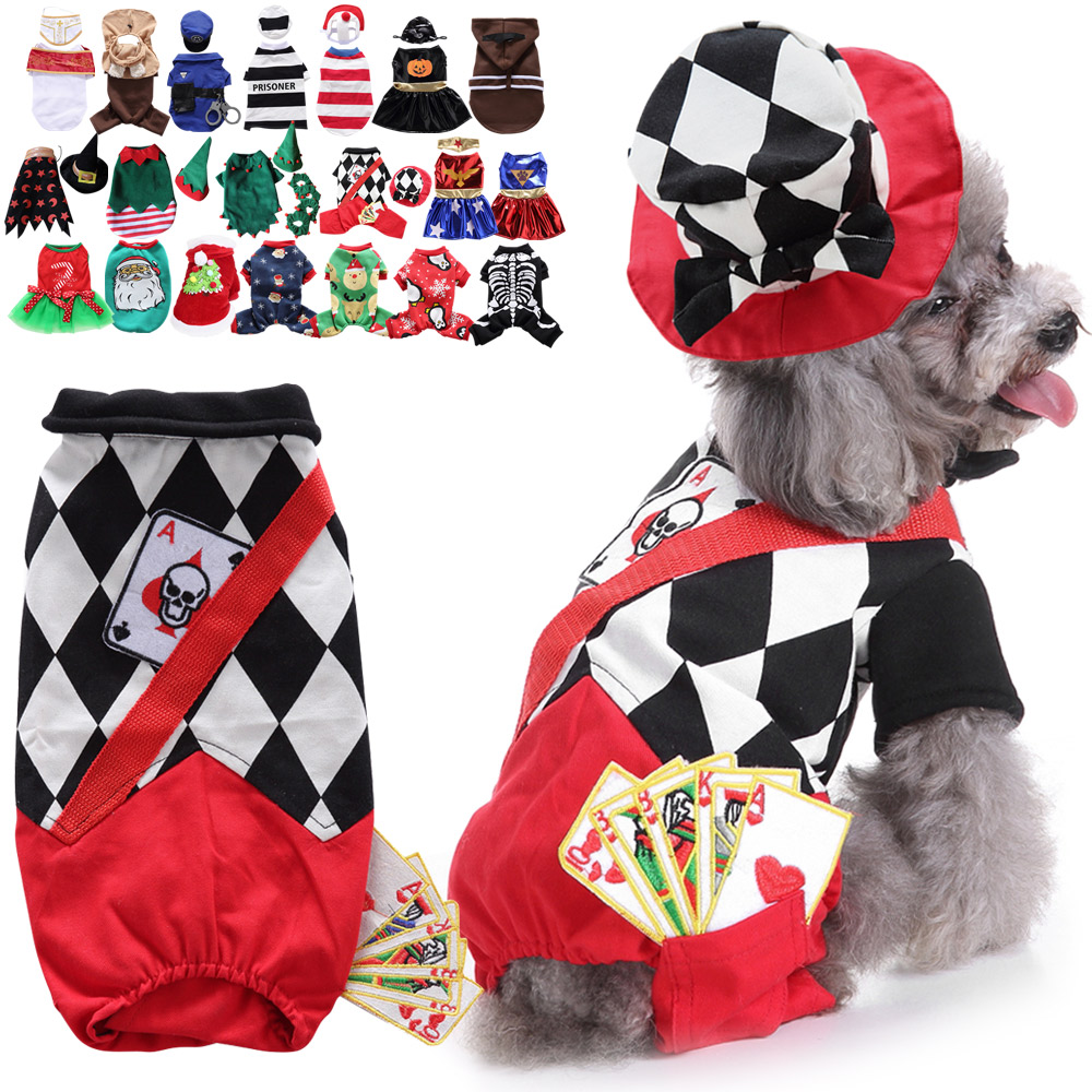 Dog Clothes Jumpsuits Pet Clothes for Puppy Party Costume PJS Hoodie Coat Warm 3