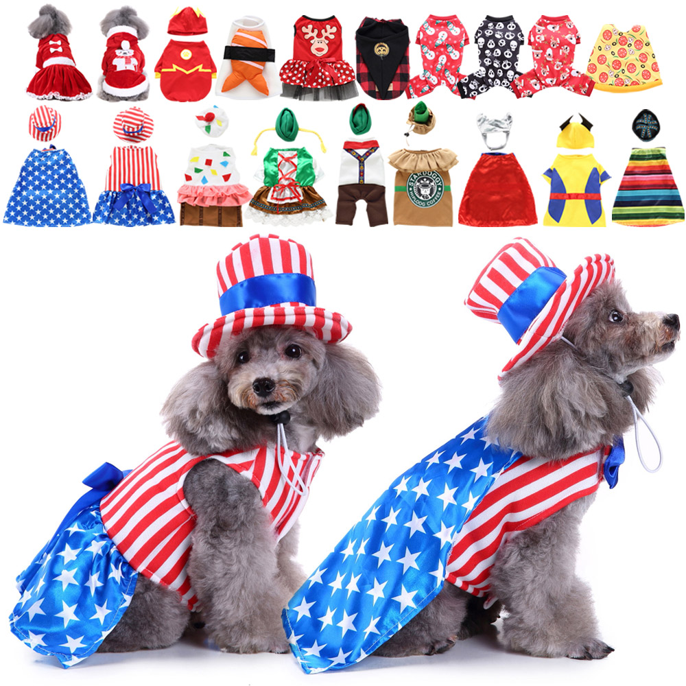 Pet Dog Cat Fun Fancy Dress Costume for Christmas Halloween Party Outfit Clothes 3