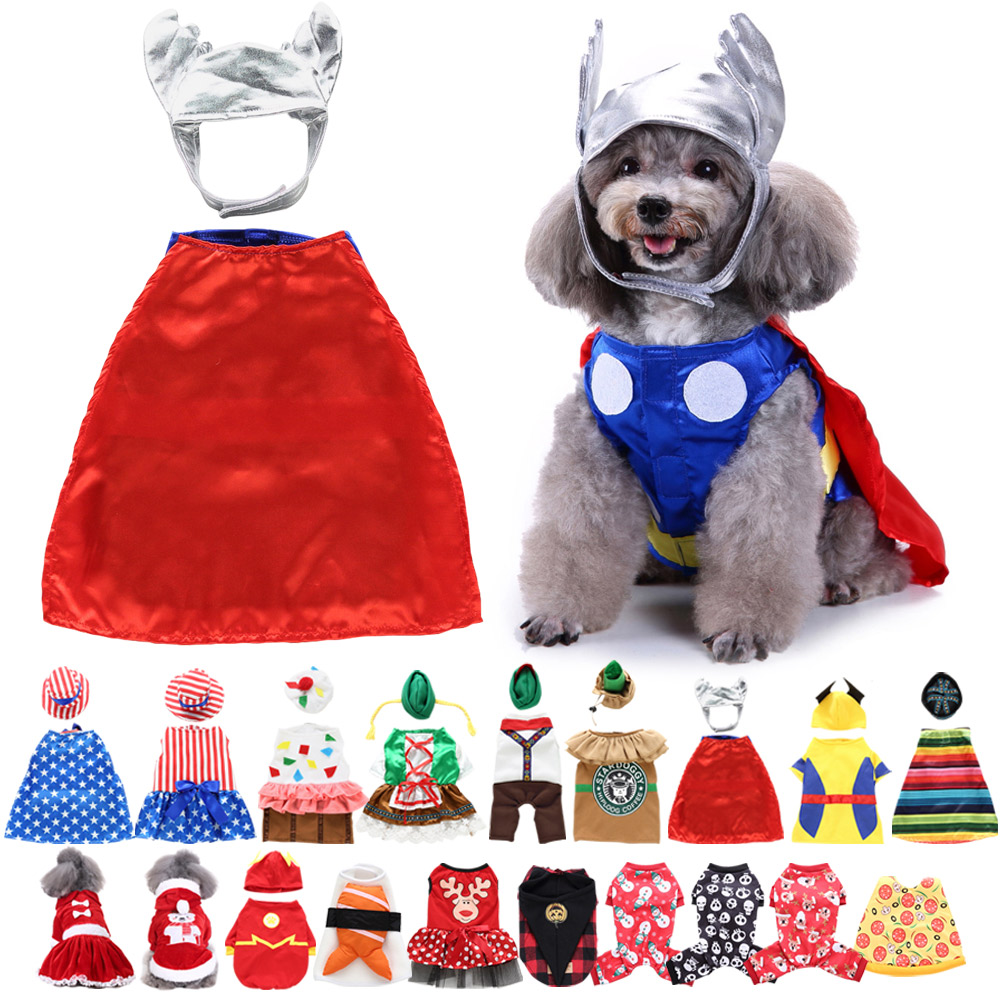 Halloween Xmas Pet Costume Dog Cat Cute Cosplay Fancy Dress Puppy Outfit Clothes 6