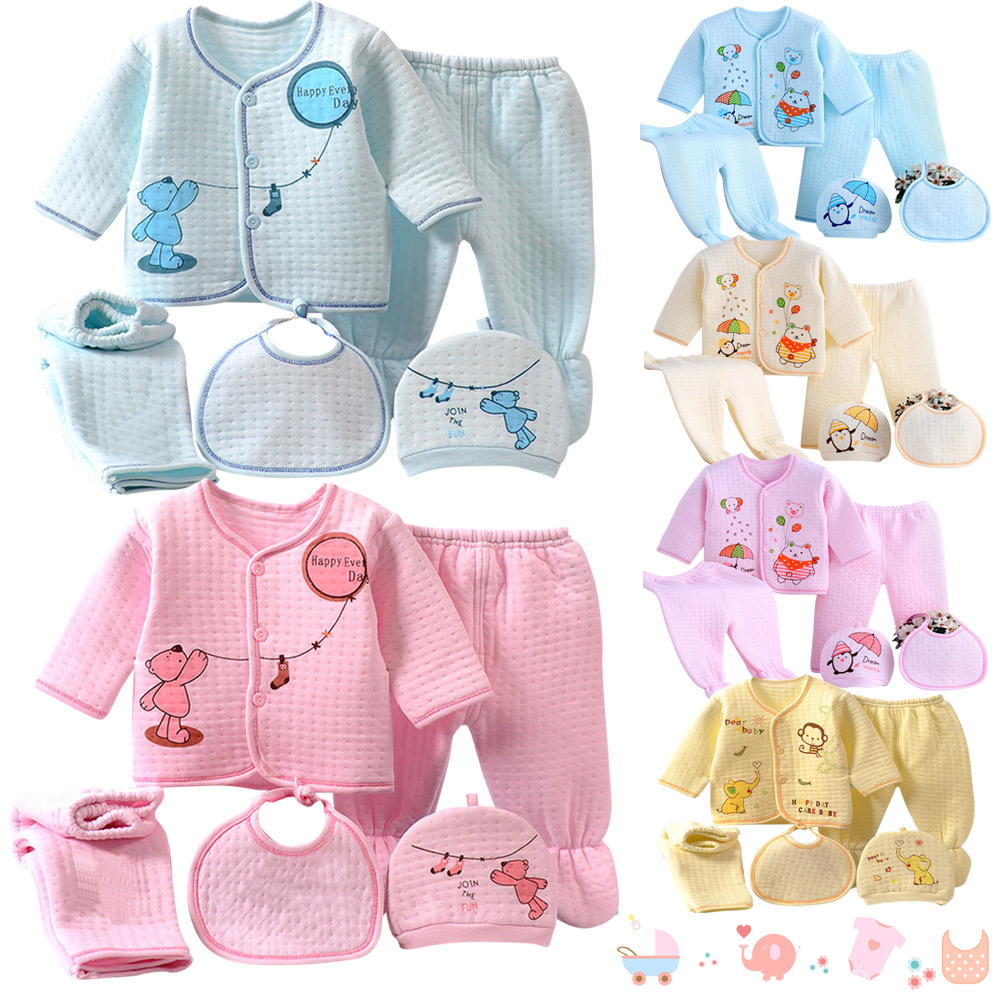 278fa6f38d88 Newborn Baby Boys Girls ( 5pcs set) Infant Underwear Set Unisex ...