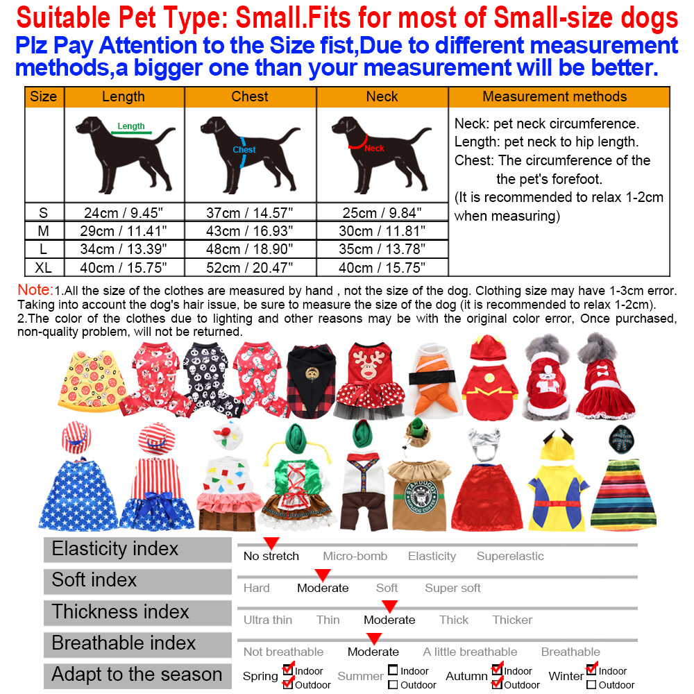 Halloween Xmas Pet Costume Dog Cat Cute Cosplay Fancy Dress Puppy Outfit Clothes 30
