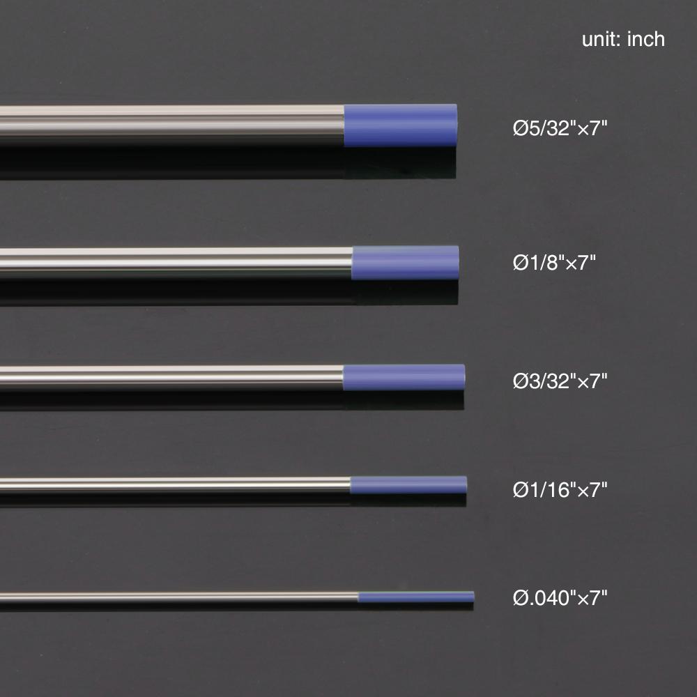 "Blue TIG Welding Tungsten Electrode Assorted 9 pack 1//16/"" 3//32/"" 1//8/"", 3 each"