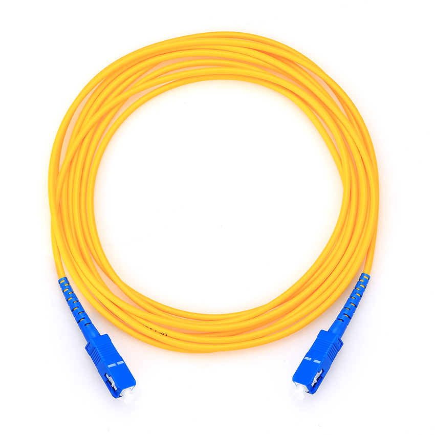 SC to SC fiber patch cord jumper cable SM simplex,9//125,10 Meters
