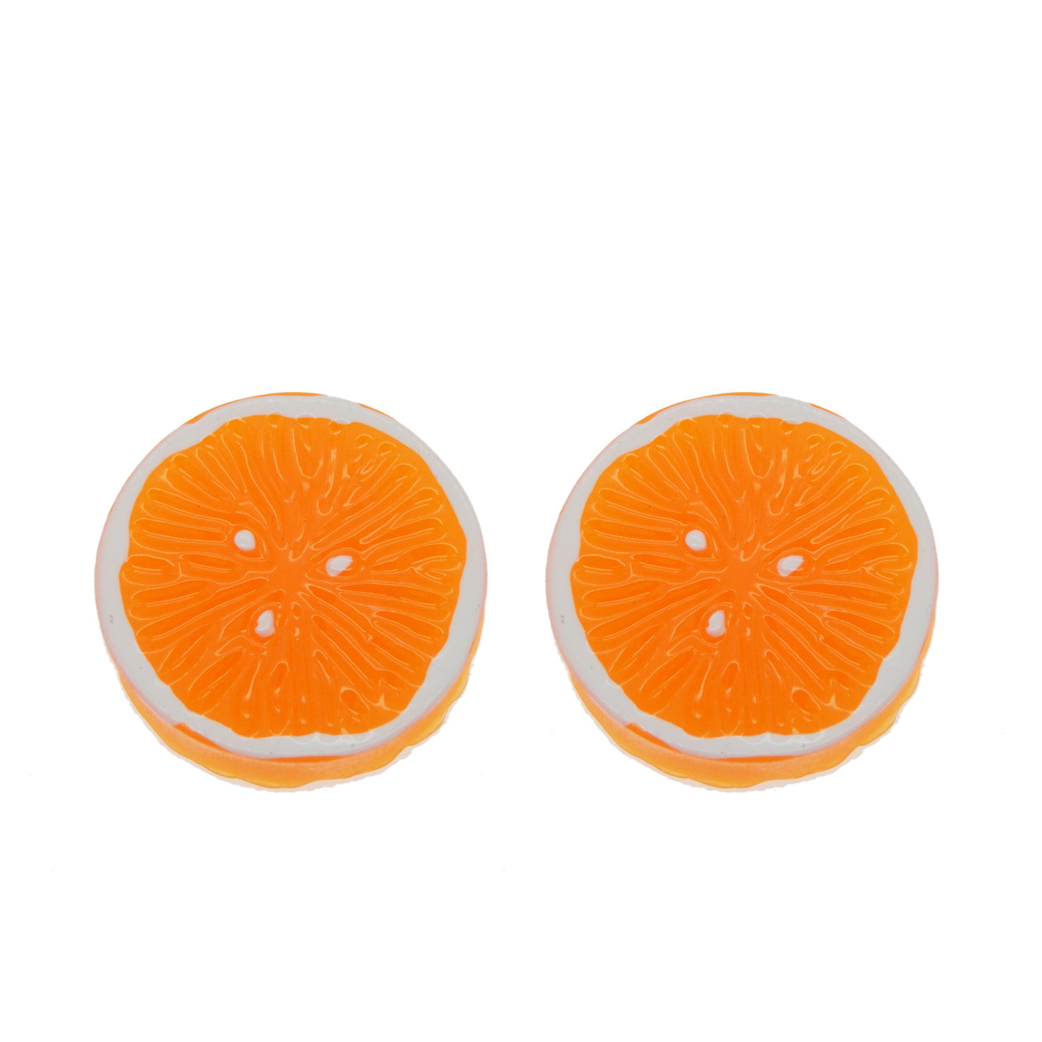 Pack of 12 Orange Piece Fruit Charms Pendants 27x27 mm DIY Jewellery Making