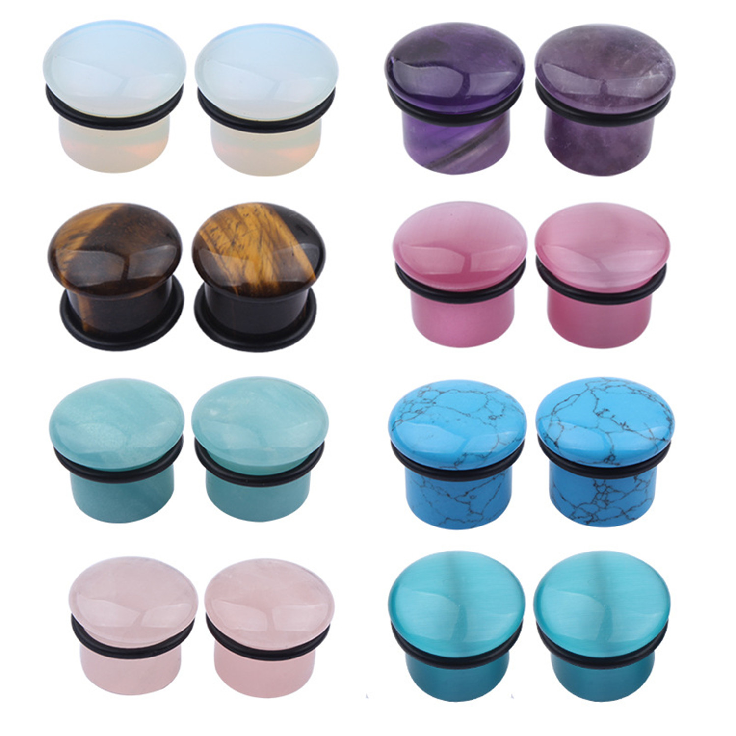 Round Screw Fit Pierced Ear Tunnel Stretching Kit Ear Expander Natural Wood Made