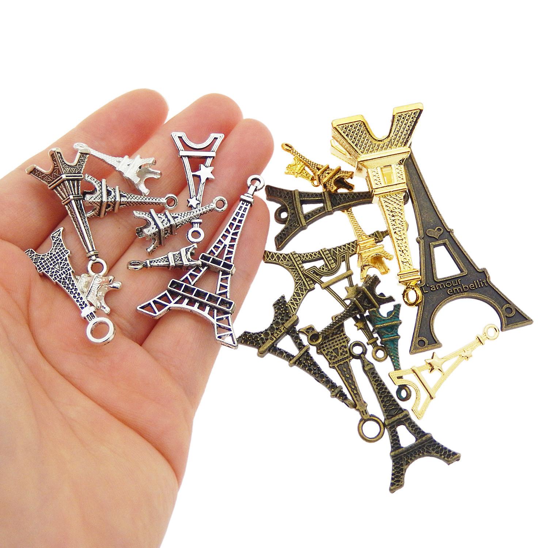 20 pcs Alloy Metal Musical Instruments Craft Charms Mixed Kinds DIY Pendants