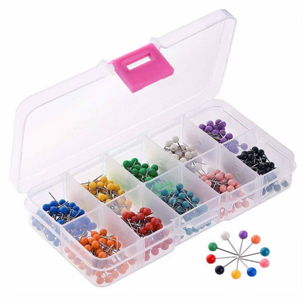 Multi-colors Ball Head Pins Assorted Lot Jewelry Accessories DIY 1 Box of x500