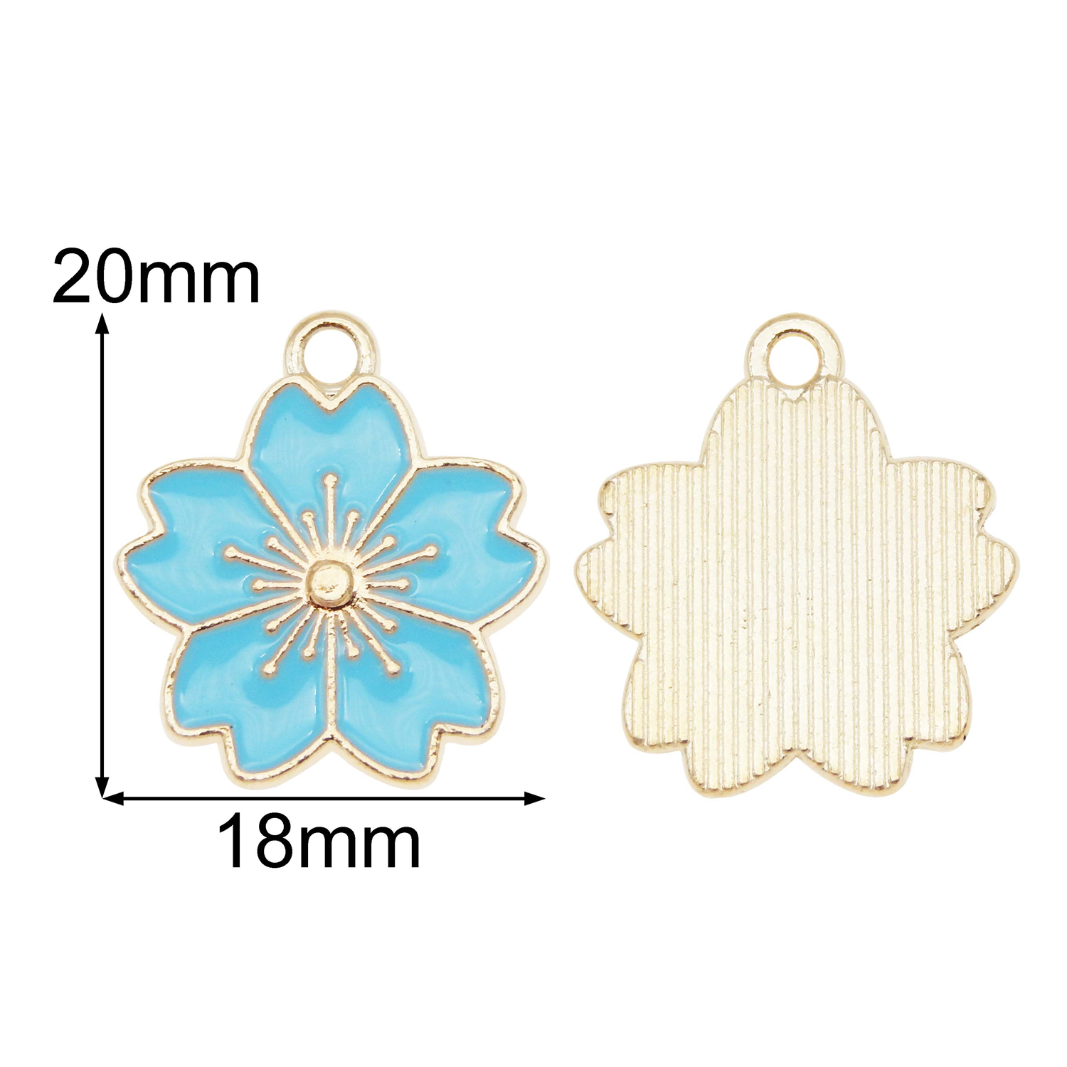 20pcs//lot Enamel 20x18mm Assorted Cherry Blossom Pendant Charms DIY  Accessories