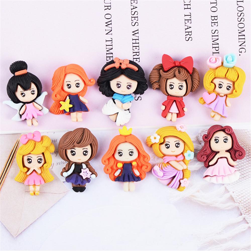 20 pcs Flatback Resin Pretty Girls Embellishments Princesses Craft Decors 2-3cm