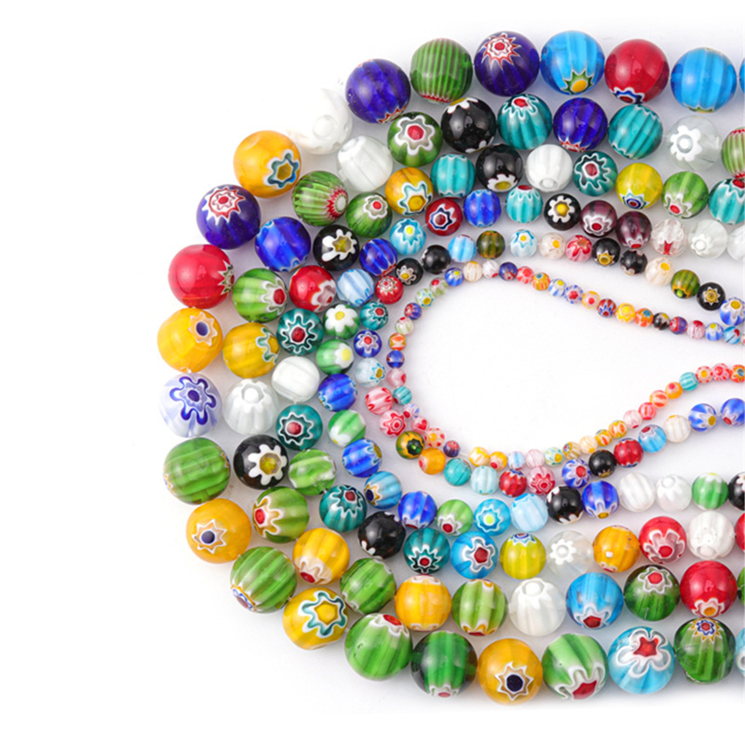 3//4//6//8//10//12//14mm Glass Pearl Spacer Beads Round Loose Jewellery Making DIY