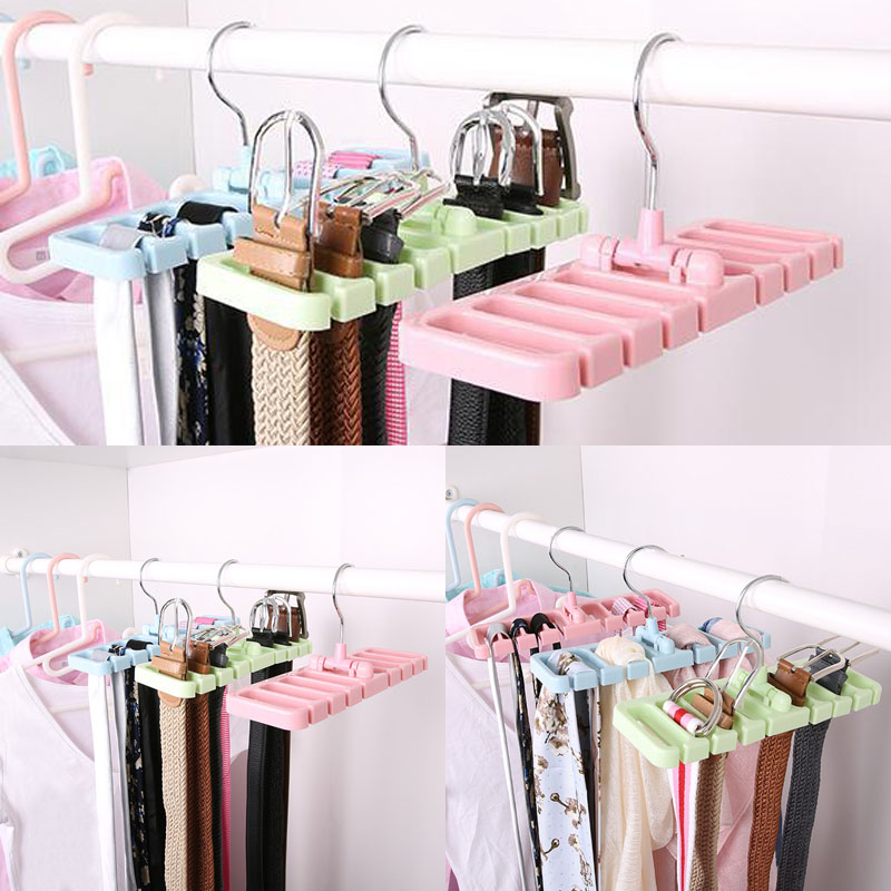Details About Closet Storage Rack Tie Belt Scarf Organizer E Saver Rotating Hanger Holder