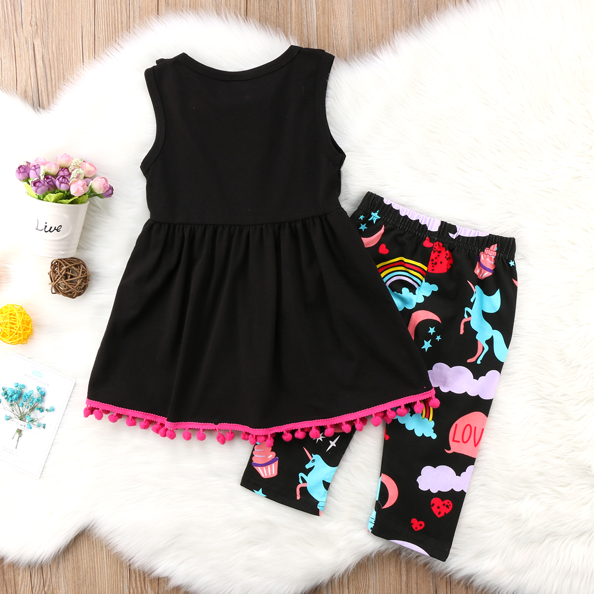 Details About Us Stock Unicorn Kids Baby Girls Outfits Clothes T Shirt Tops Dress Pants Set