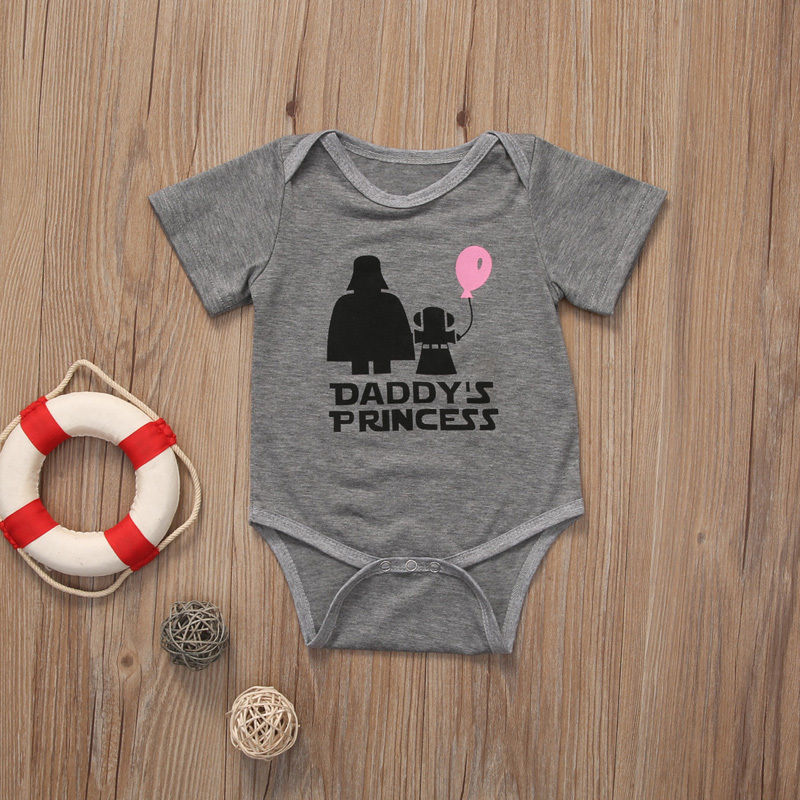 Cute Star Wars Infant Baby Girl Princess Romper Bodysuit Sunsuit Clothes Outfits