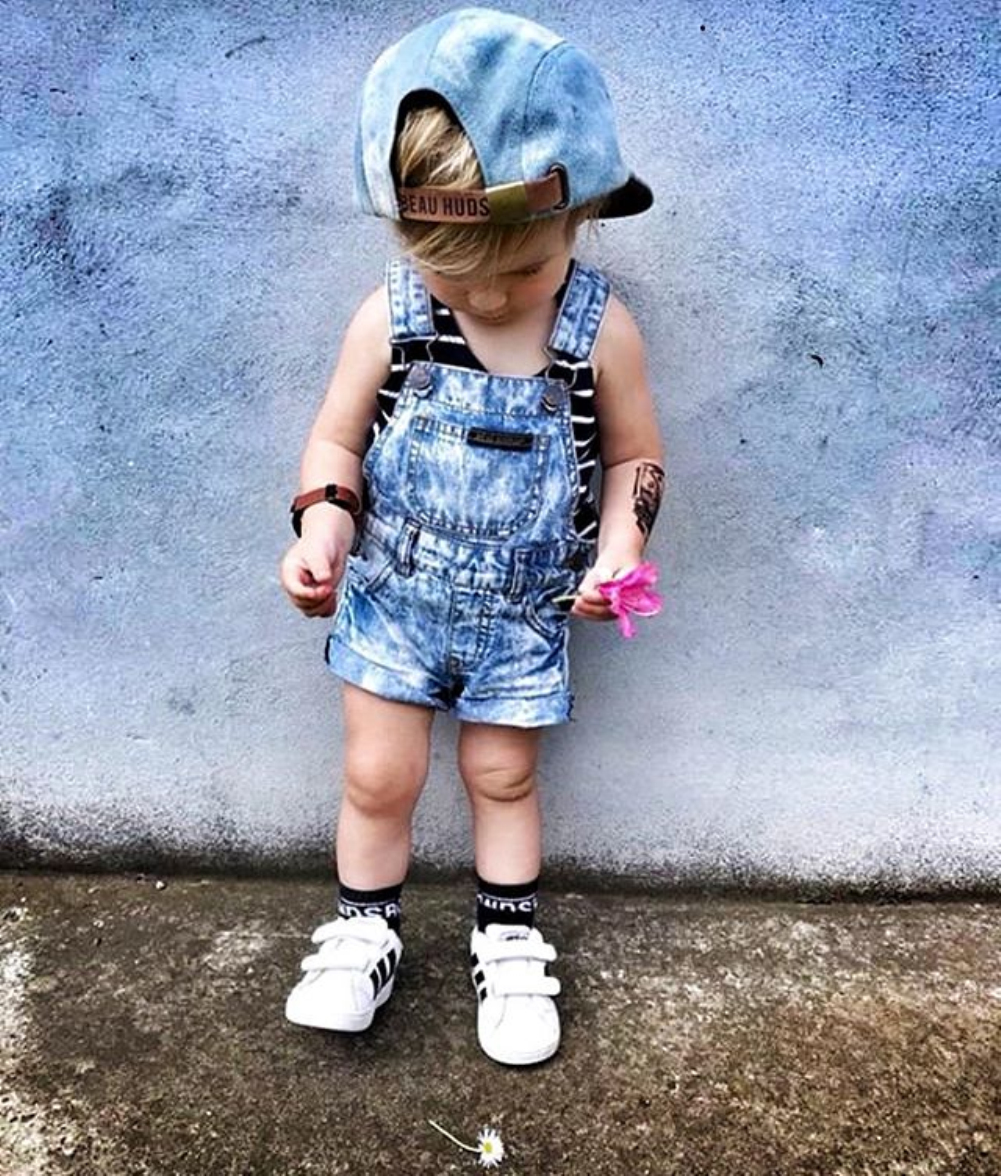 4a714489d767 Details about US Kids Baby Boys Girls Denim Romper Jumper Bib Pants  Overalls Outfits Clothes