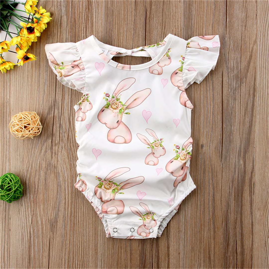 UK Canis Easter Kids Baby Boys Girl Rabbit Romper Bodysuit Dress Outfit Clothes