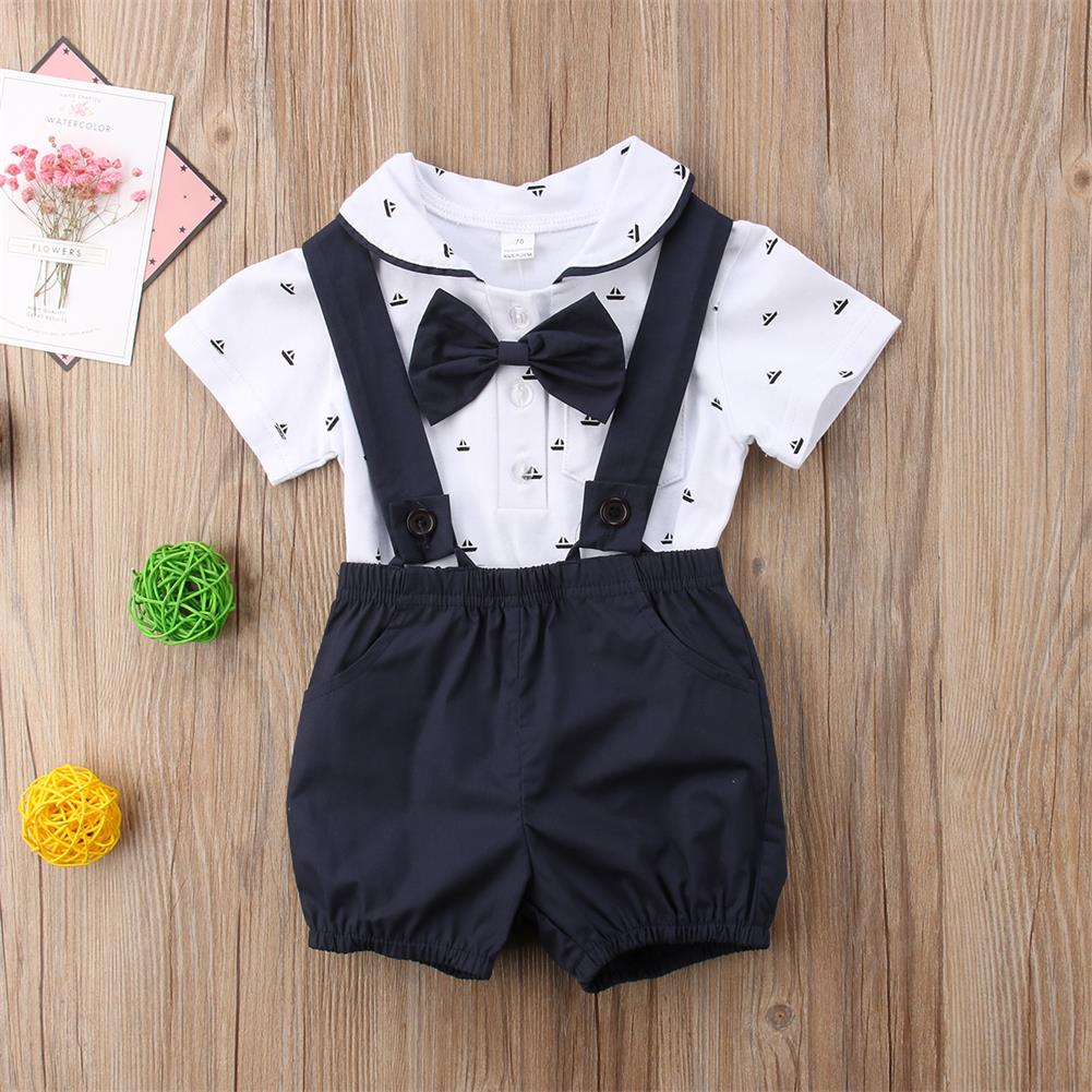 Shorts Outfit Clothes 0-2T US 2Pcs Newborn Toddler Baby Boy Bow Tie Romper Tops