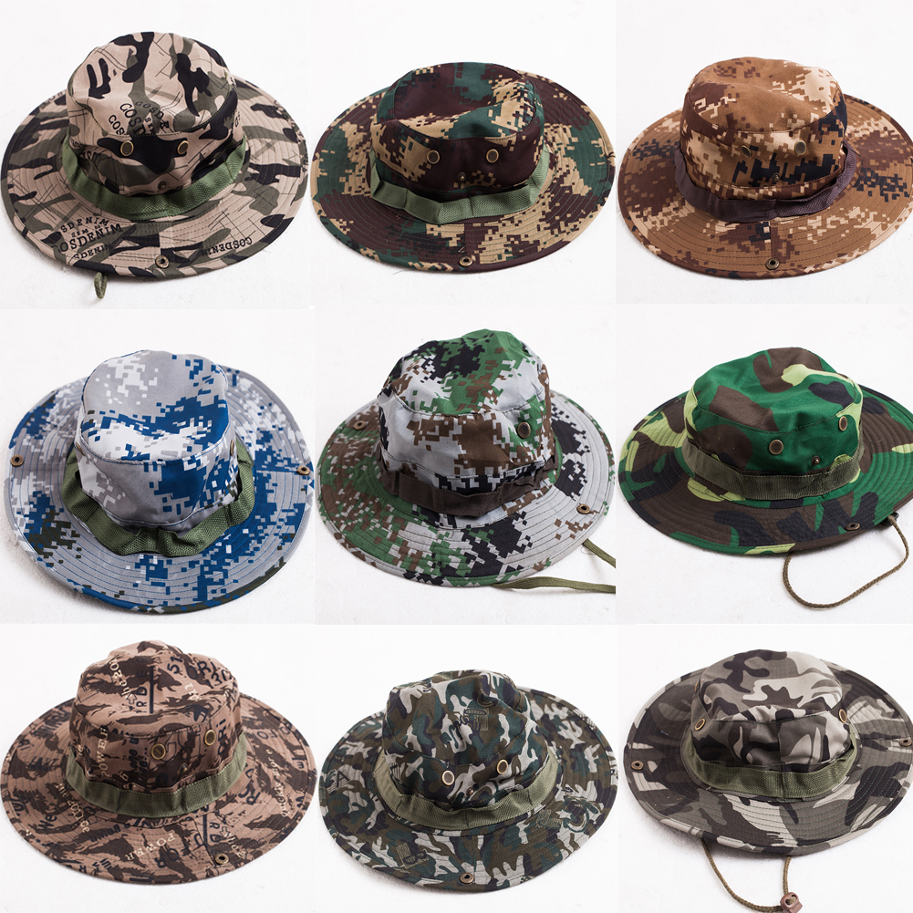 Details about Tactical Army Military Boonie Bucket Hat Mens Jungle Bush  Safari Fishing Cap Hot d974569253ef