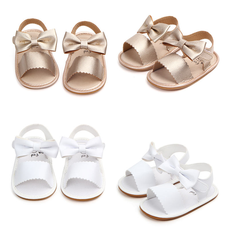 UK Cute Infant Newborn Baby Girls summer Soft Sole casual Princess Shoes Sandals