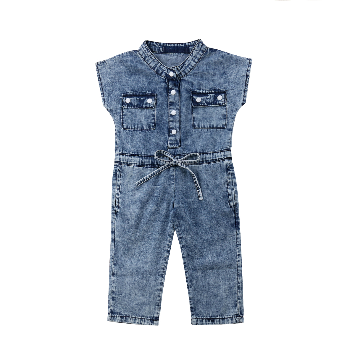 79dc839562a6 Details about 2019 Kids Baby Girl Denim Romper Newborn Long Jumpsuits Playsuit  Outfit Clothes