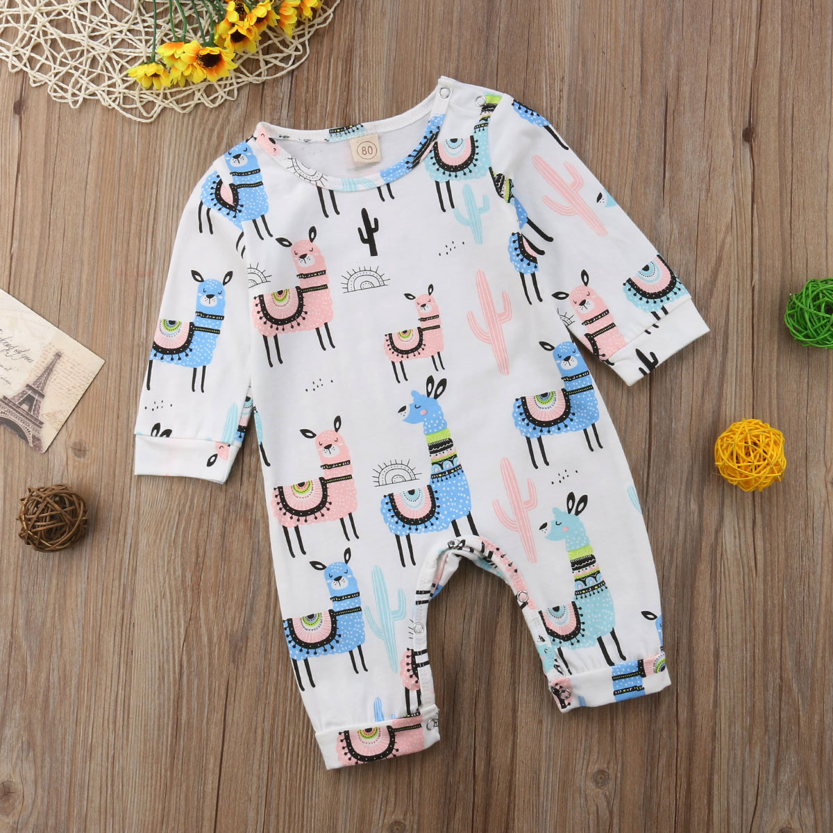 Newborn Baby Girls Boys Jumpsuit Rompers Outfits Kids Clothes One Piece Bodysuit