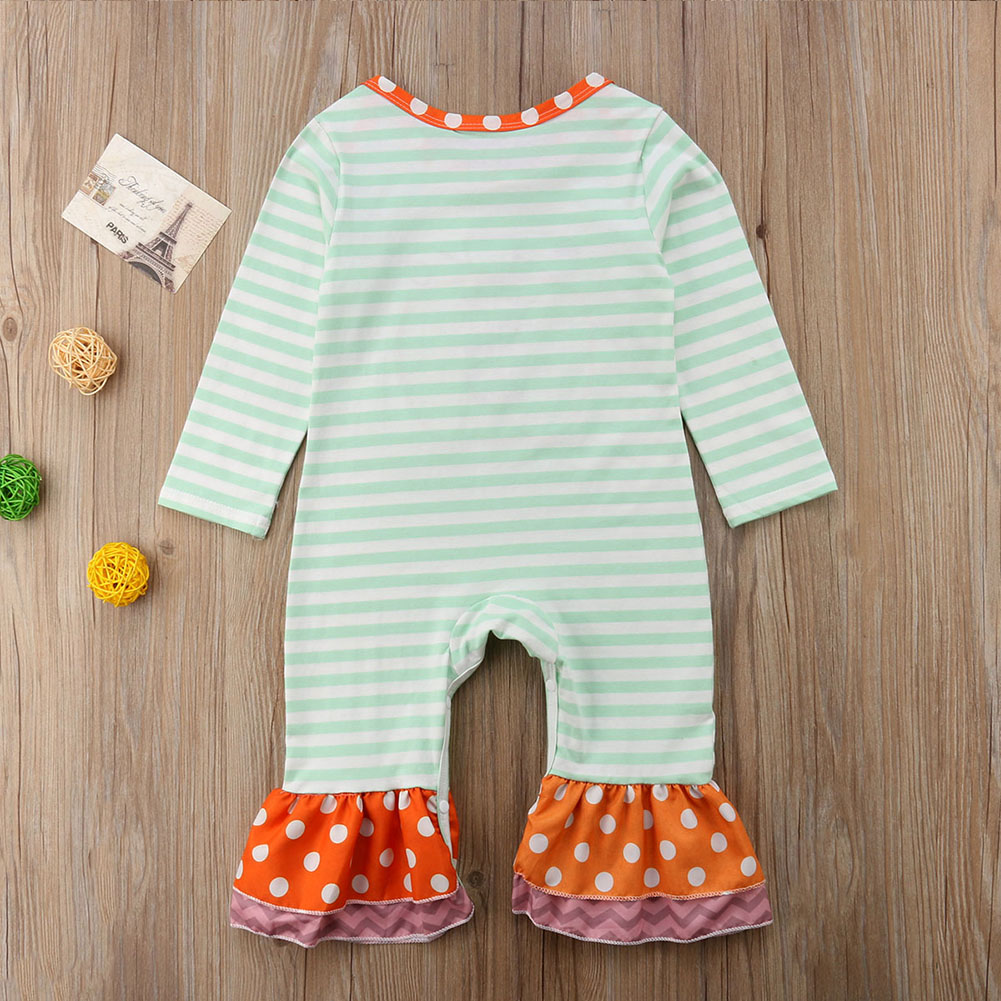 436909035383 Details about US Baby Girl Halloween Pumpkin Fancy Romper Striped Long  Sleeve Outfit Set 0-24M