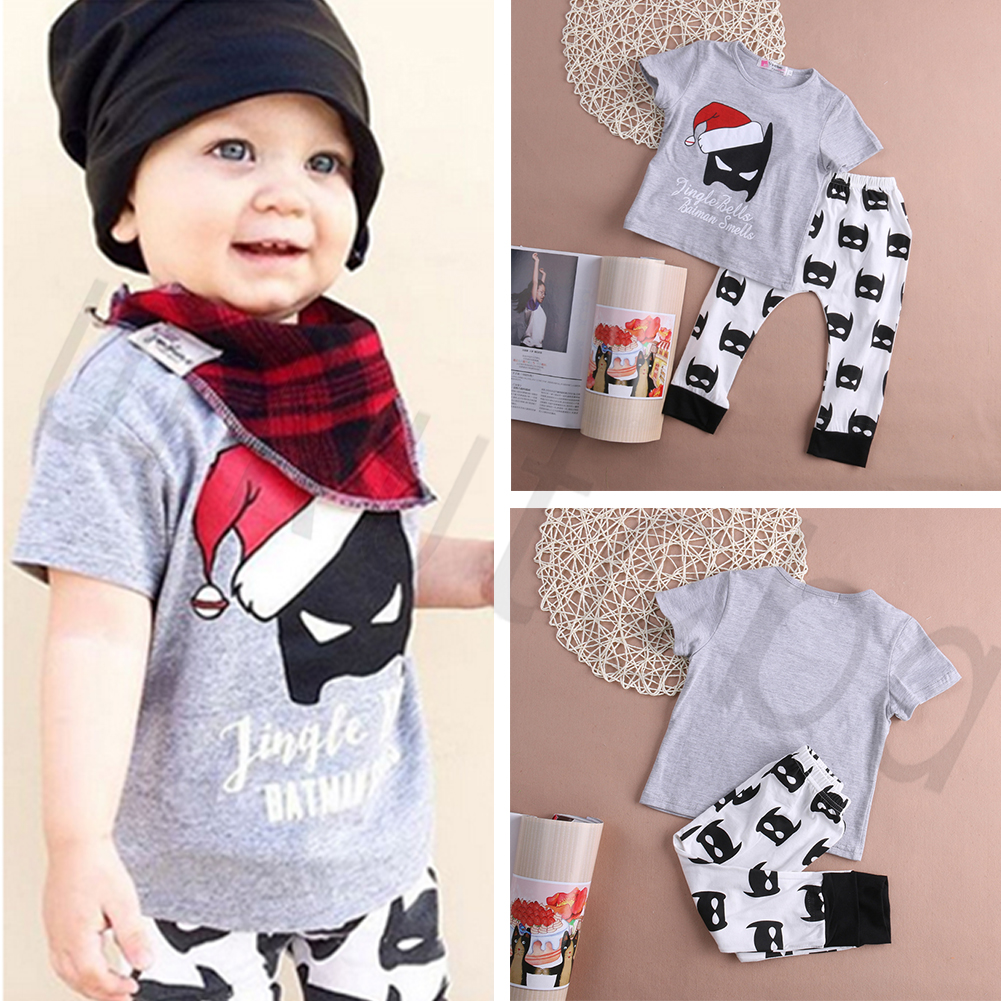 Cute Christmas Outfits.Details About Hot Cute Christmas Baby Boy Outfit Clothes Batman Smell Print T Shirt Long Pants