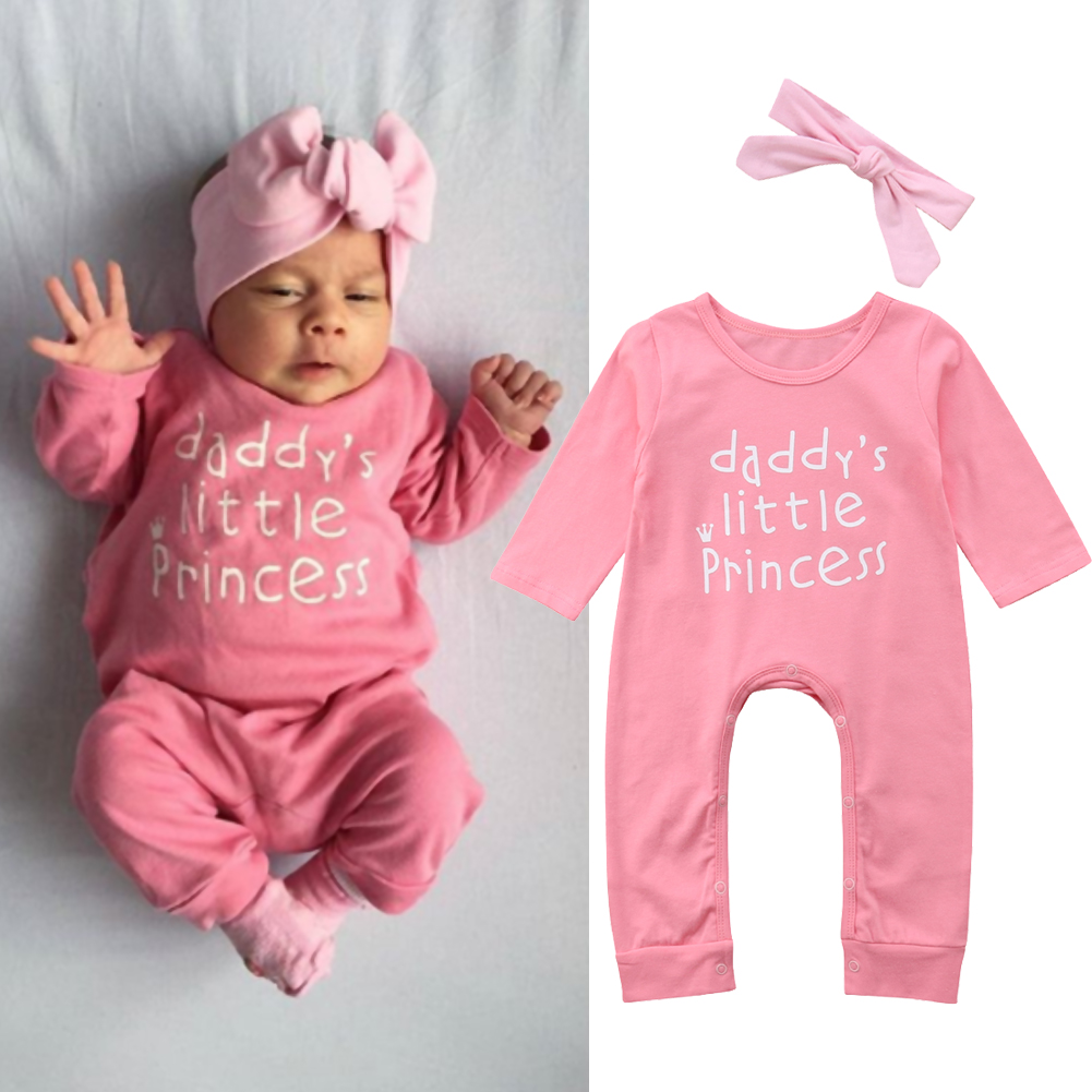 COLOOM Newborn Baby Girl Take Home Outfit Baby Girl Gift Set Baby Gown Little Sister Sleepers with Headband