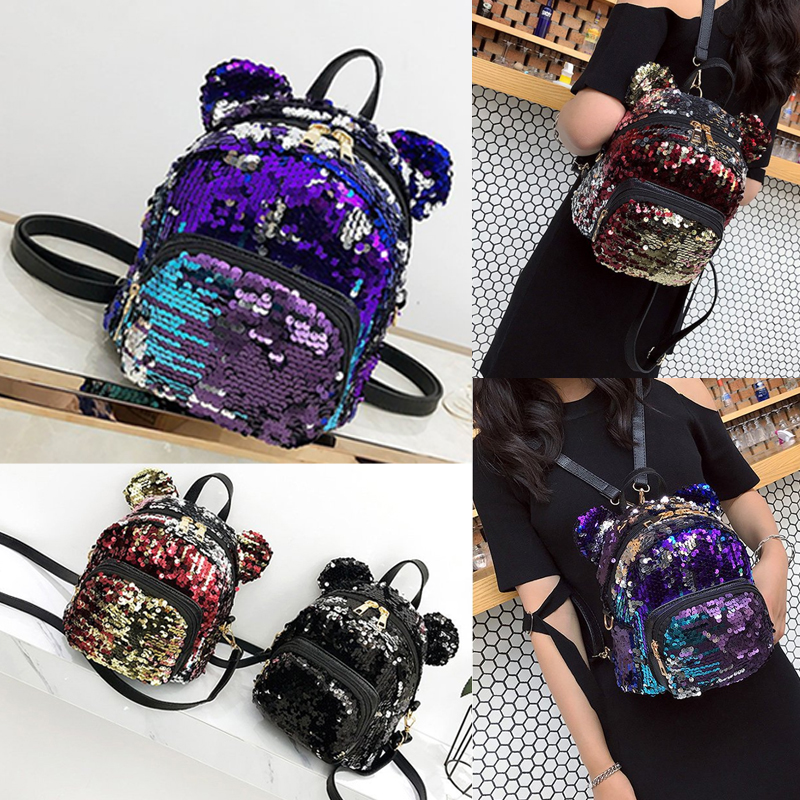 7db570988856 Details about Women Girl Mini Backpack Purse Nylon Small Backpack Shoulder  Rucksack Bag Travel