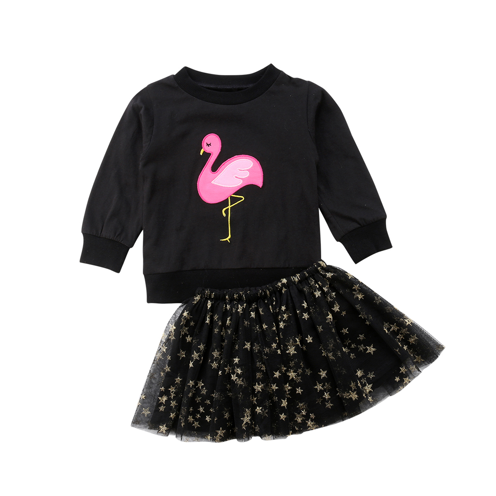 33908e997 Details about Baby Girl Kid Toddler Long Sleeve T-shirt+Tulle Tutu Skirt  Dress Outfit Clothes