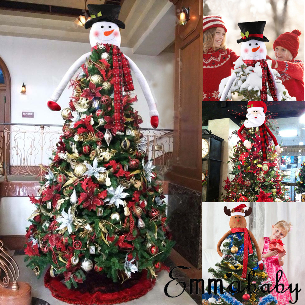 US Snowman Christmas Tree Topper Decoration Holiday Tree Ornament Festival Decor