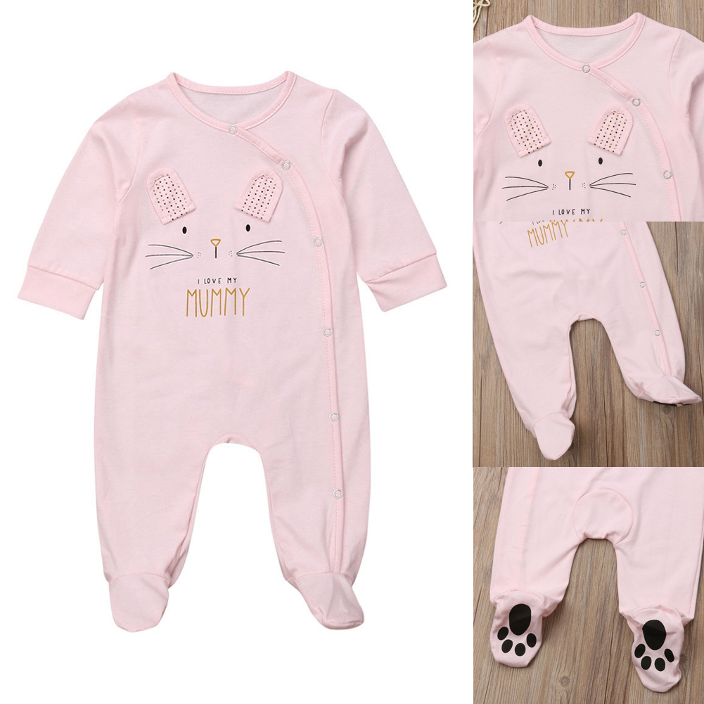 8ae82c917ba Details about Newborn Infant Kid Baby Boy Girl Animal Romper Bodysuit  Jumpsuit Clothes Outfits