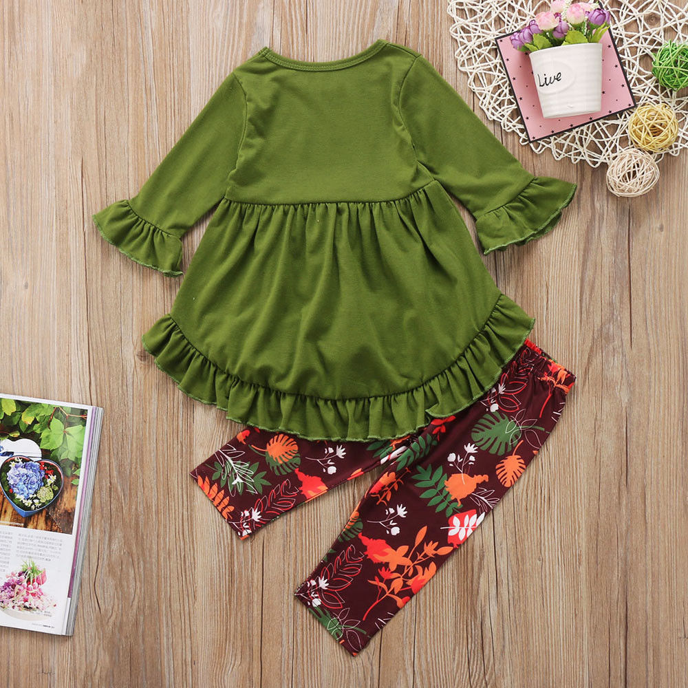 970bd2f9 Details about Newborn Toddler Kids Girls Dress Tops Floral Pants Leggings  Outfits Clothes Set