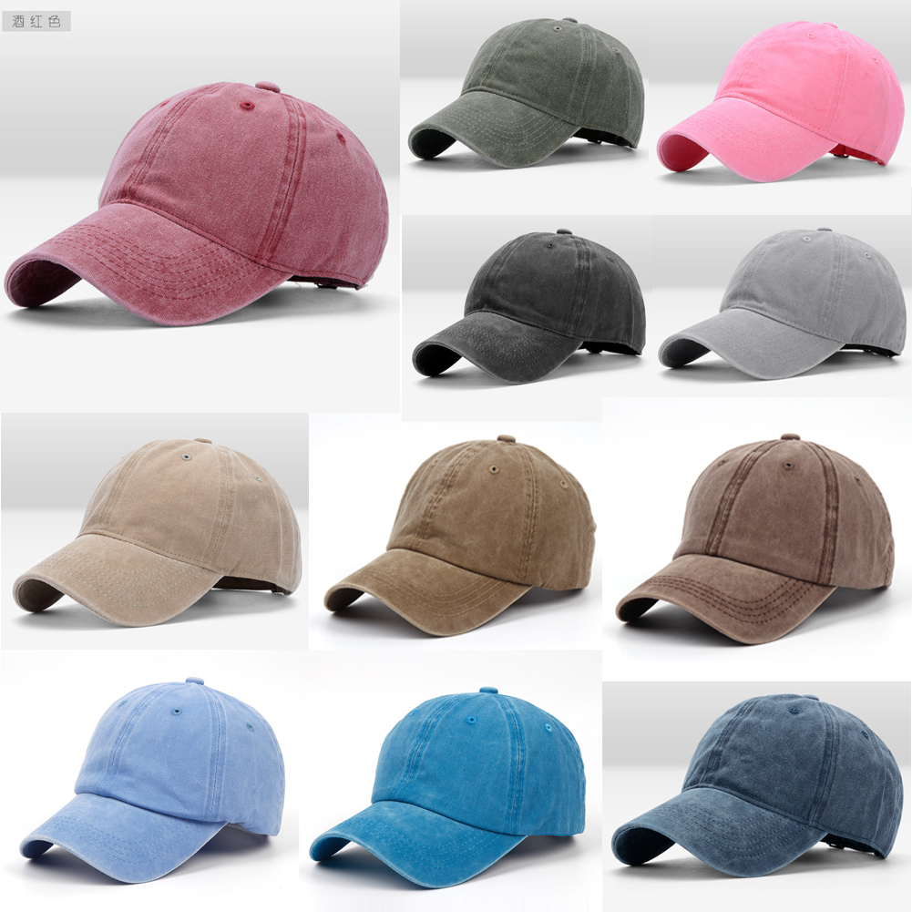 34dc33c68818b Denim Hat Baseball Cap Washed Style Plain Adjustable Blank Dad Caps ...