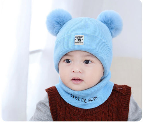 Production Description. Welcome! Newborn Kids Baby Boy Girl Pom Hat + Scarf  Set dc83027077dc