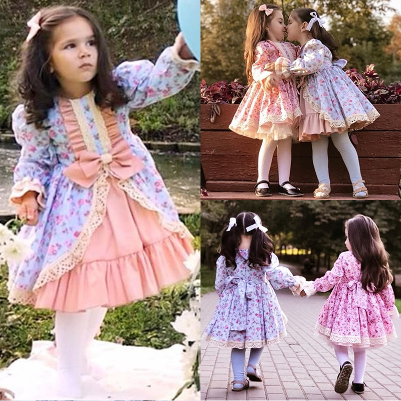 ef02b5187b1 Details about US Christmas Princess Kids Baby Girl Lace Party Dress Bow  Wedding Formal Dresses