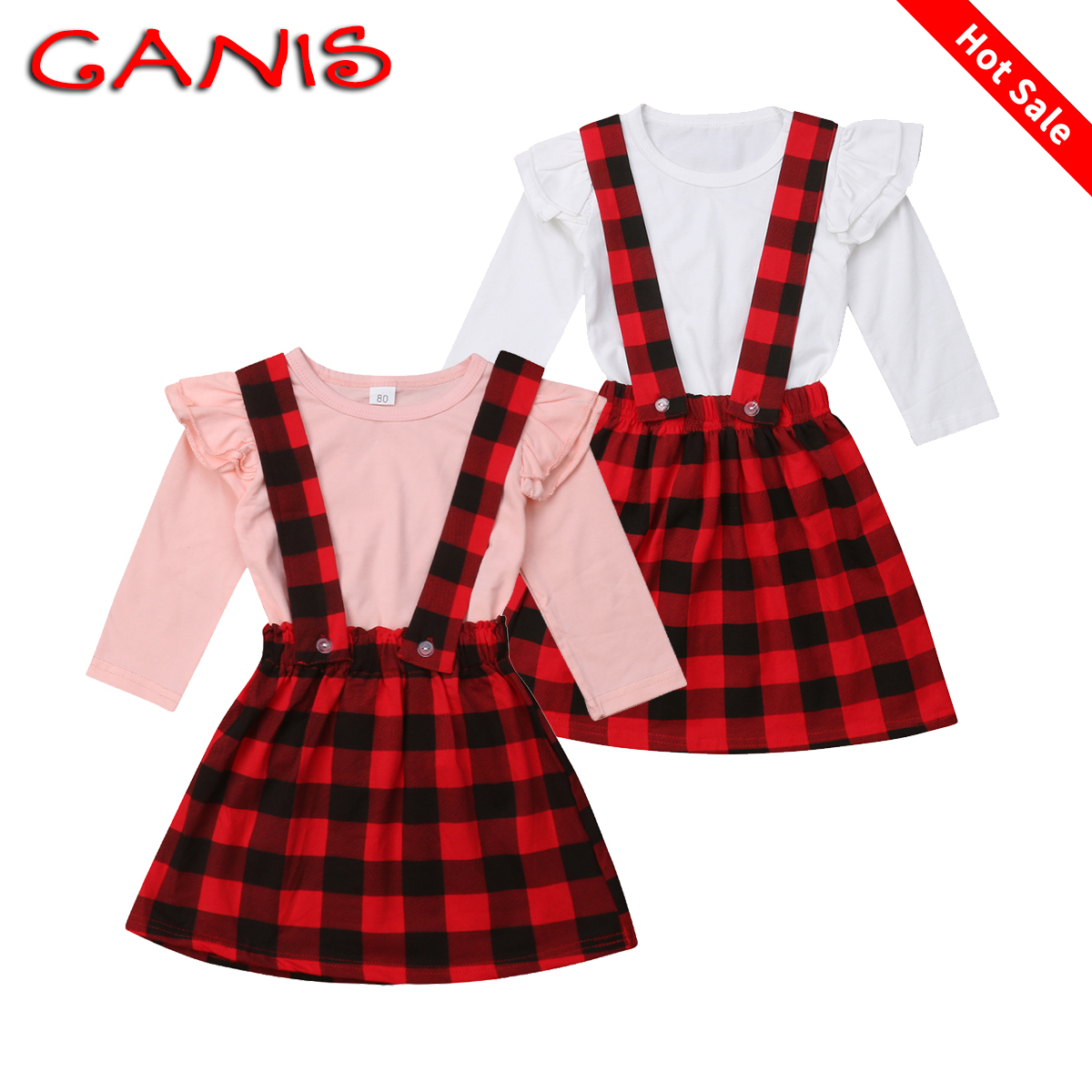 f34f95b731aa Details about Toddler Kids Baby Girls Christmas Tops T-shirt Skirts Dress  Outfits Clothes Set