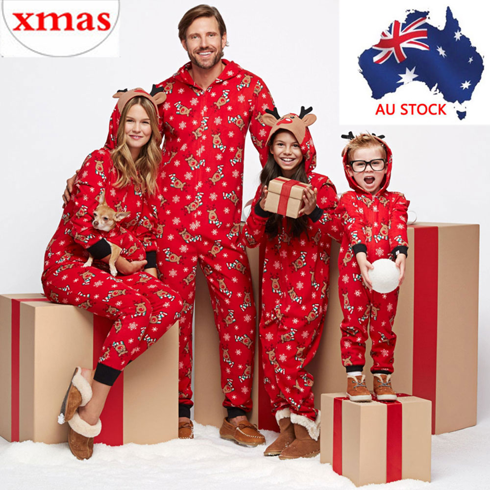 580bdd1839 Family Christmas Pajamas Set Xmas Pjs Matching Pyjamas Adult Kids ...
