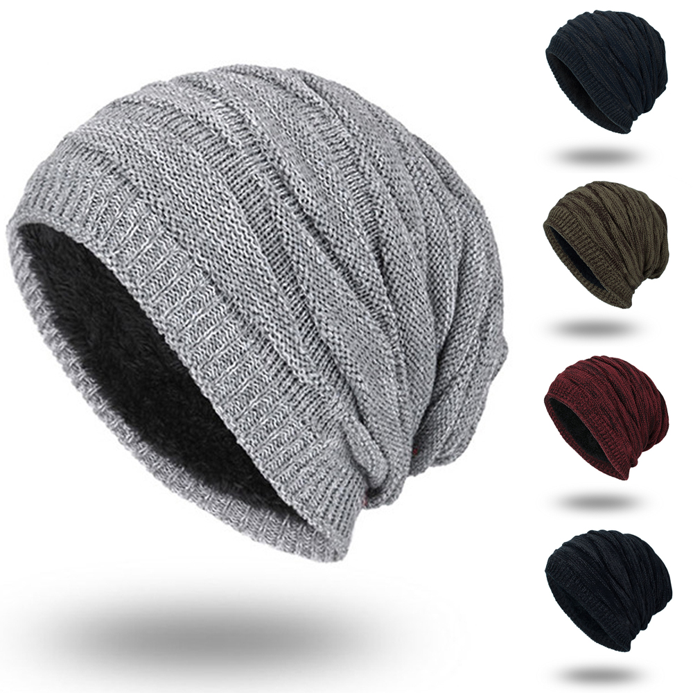 830671128 Details about US Men Women Knit Baggy Beanie Winter Hat Ski Slouchy Knitted  Cap Warmer Hats