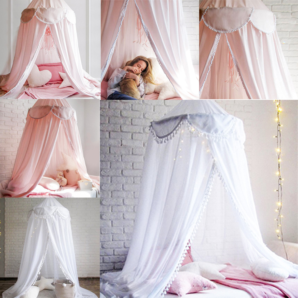 Kids Girls Bed Canopy Bedcover Mosquito Net Curtain Bedding Dome ...