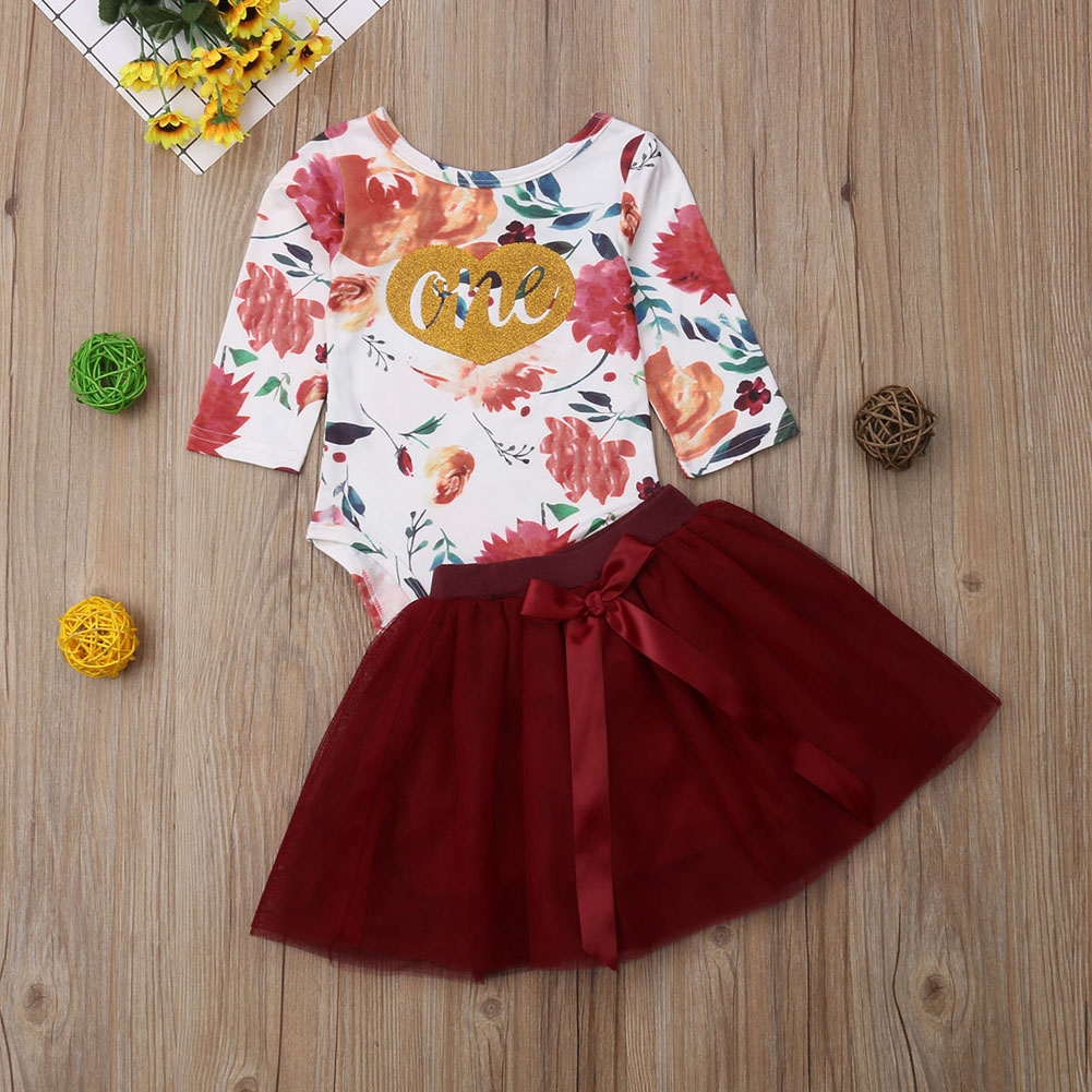Baby & Toddler Clothing Girls' Clothing (newborn-5t) Baby Clothes Girl Tu Floral Cotton Summer Romper 12-18 Months