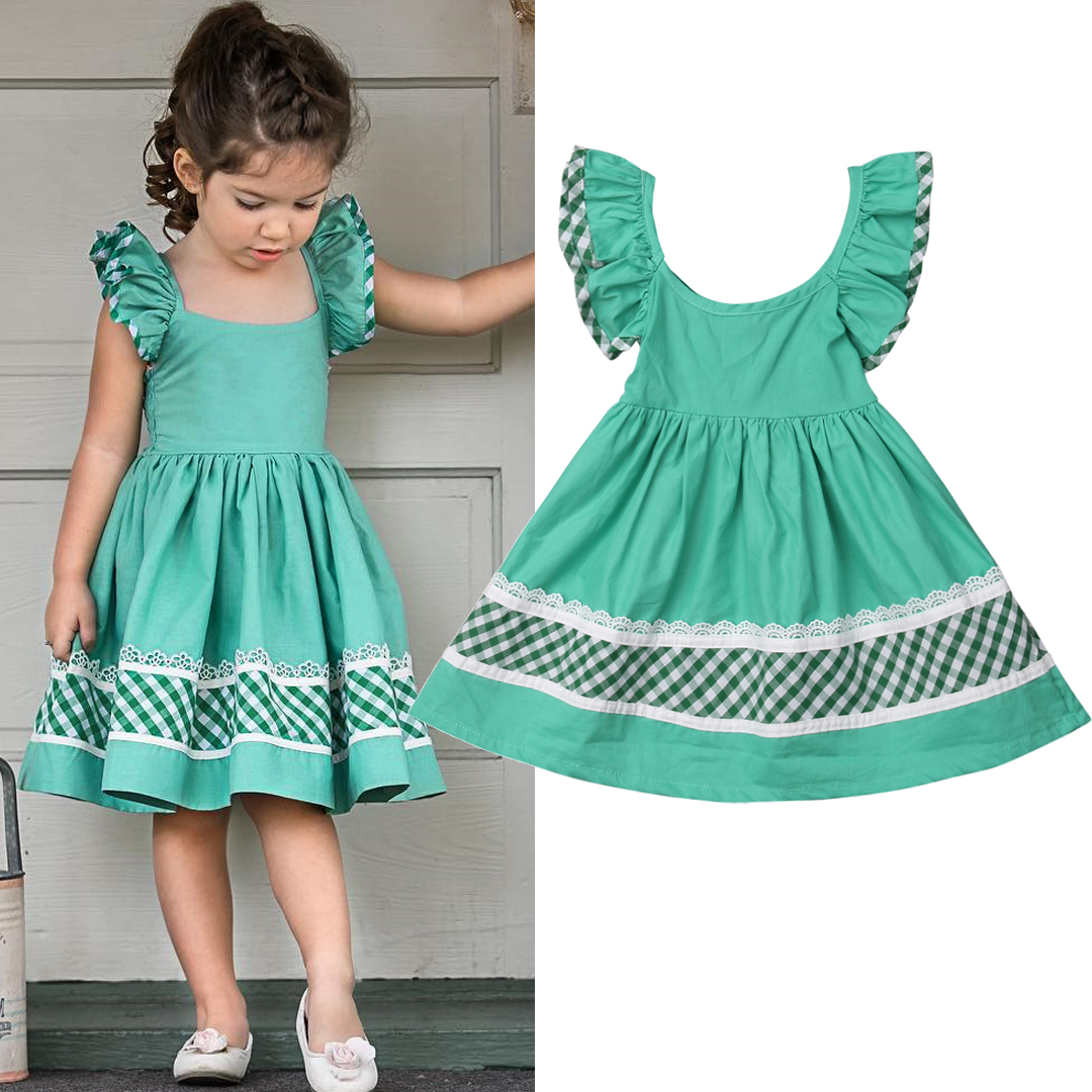 Details about 2019 Kids Baby Girls Summer Prom Pageant Party Casual Short  Dress Sundress Skirt
