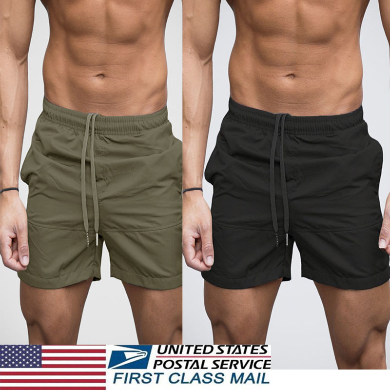 Details about US Men's GYM Shorts Training Running Sport Workout Casual Jogging Pants Trousers