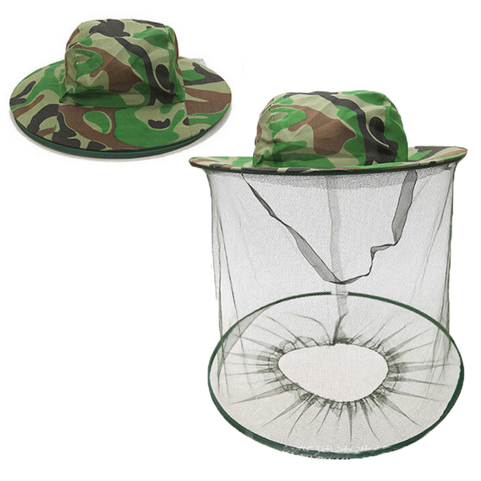 Latest Collection Of Beekeeping Hat Jungle Anti-mosquit Bee Net Veil Keep Equipment Fishing Sunscreen Mesh Cap Face Head Protector Hats Green Men's Sun Hats