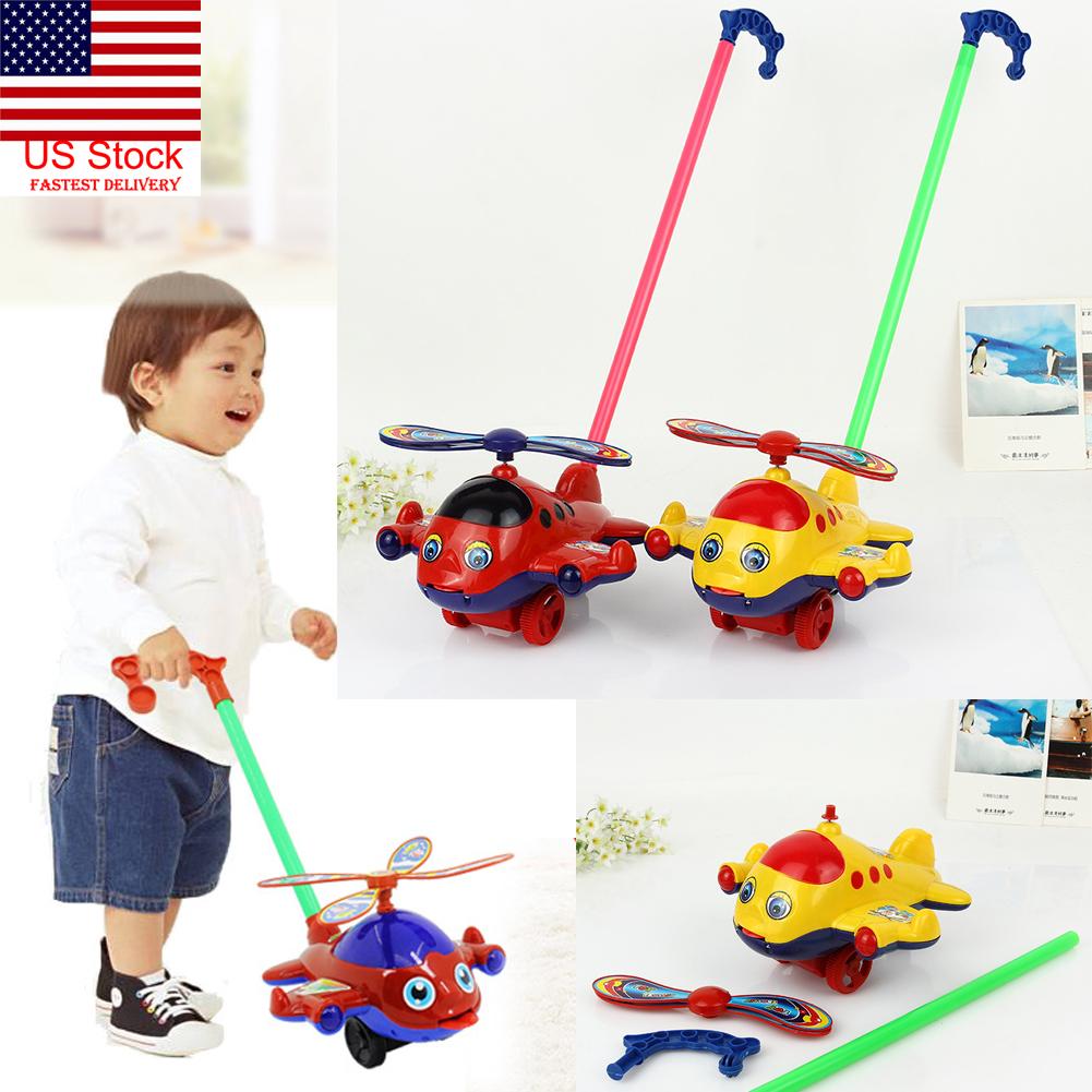 Baby Infant Learn To Walk Push Toy Plane Shape Walker On Baby