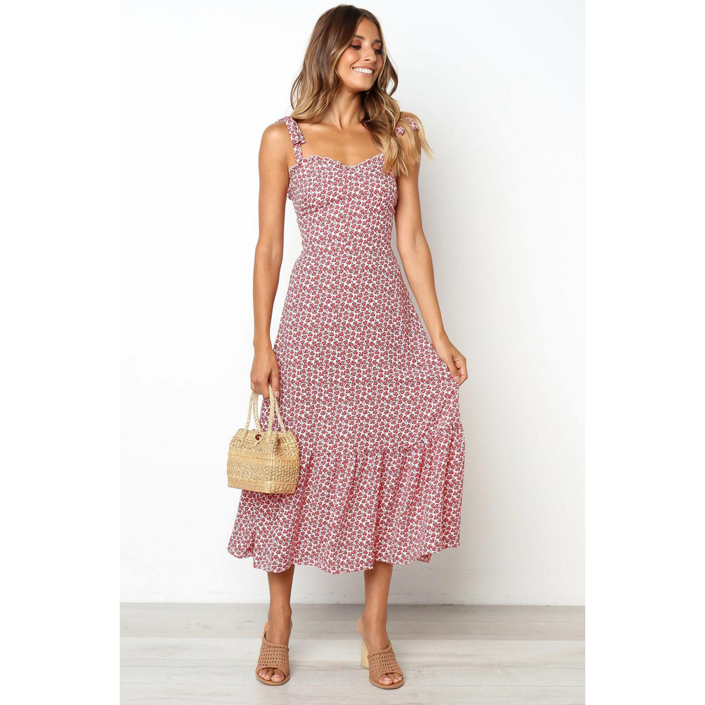 33b887982c3 Details about AU Women Casual Sleeveless Sundress Ladies Summer Holiday  Beach Party Midi Dress