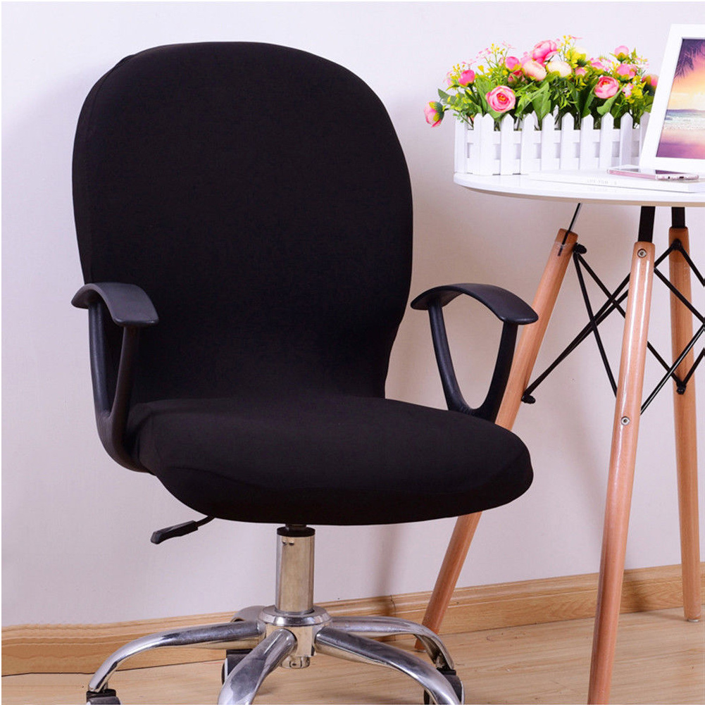 Sensational Details About Office Chair Cover Swivel Chair Computer Armchair Protector Slipcover Black Usa Creativecarmelina Interior Chair Design Creativecarmelinacom